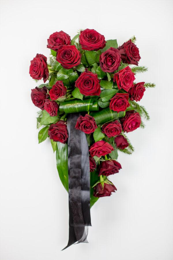 Leinakimp punaste roosidega - Leinalilled.ee